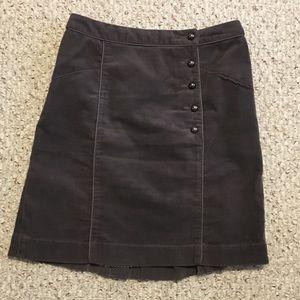 Anthro Cartonnier Finishing School Corduroy Skirt